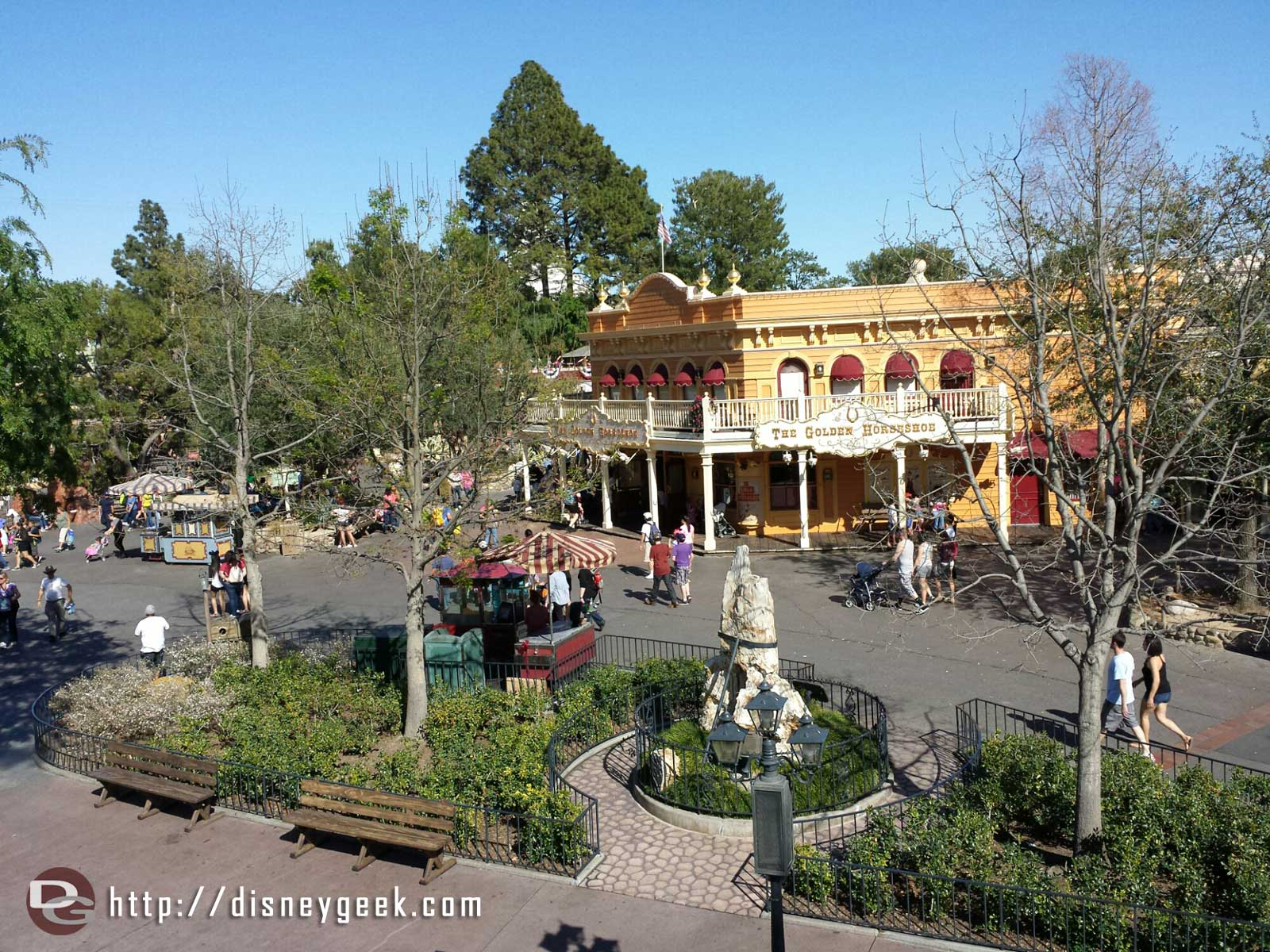 Frontierland from the Mark Twain #Disneyland