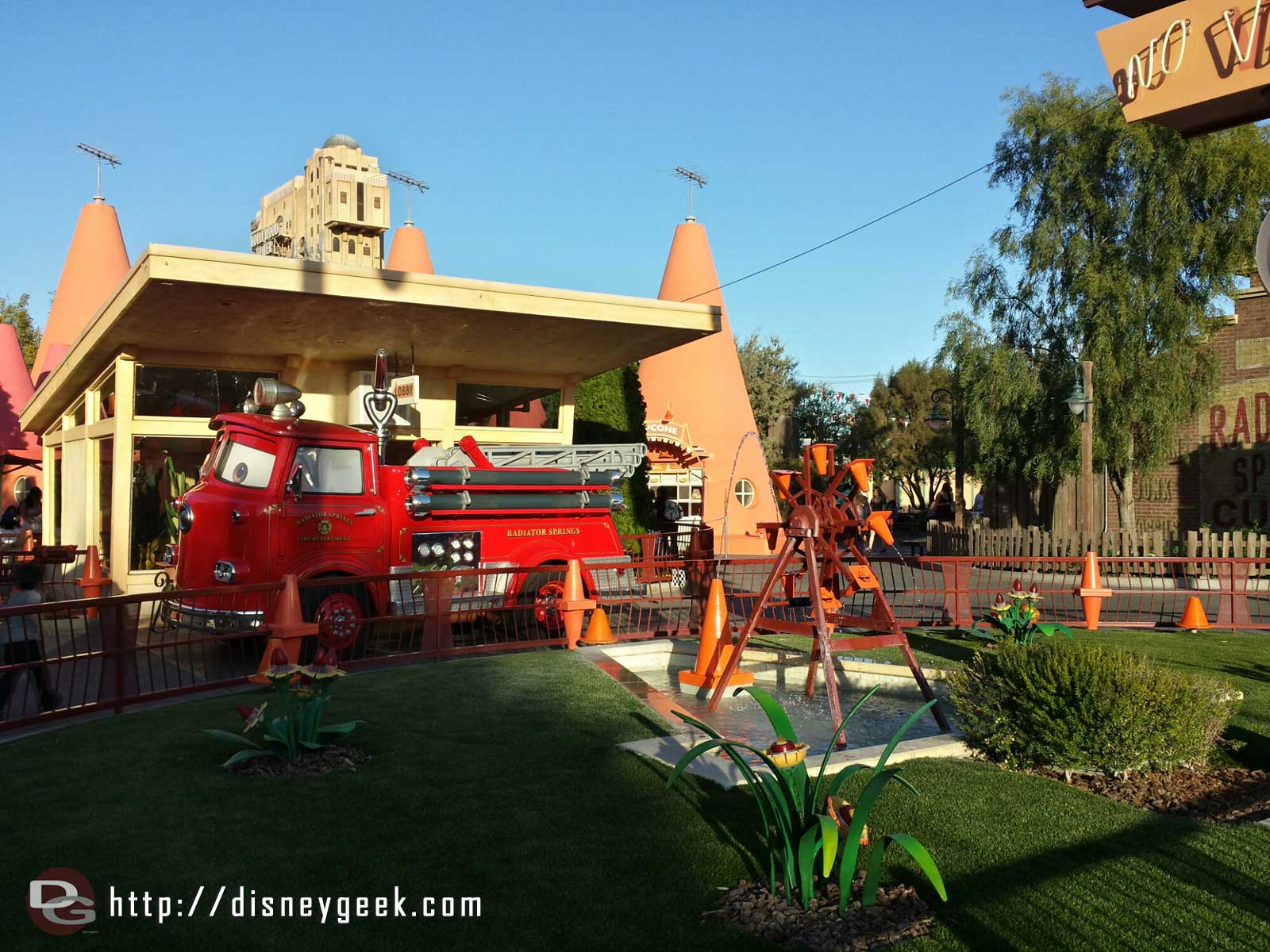 Red at the Cozy Cone #CarsLand