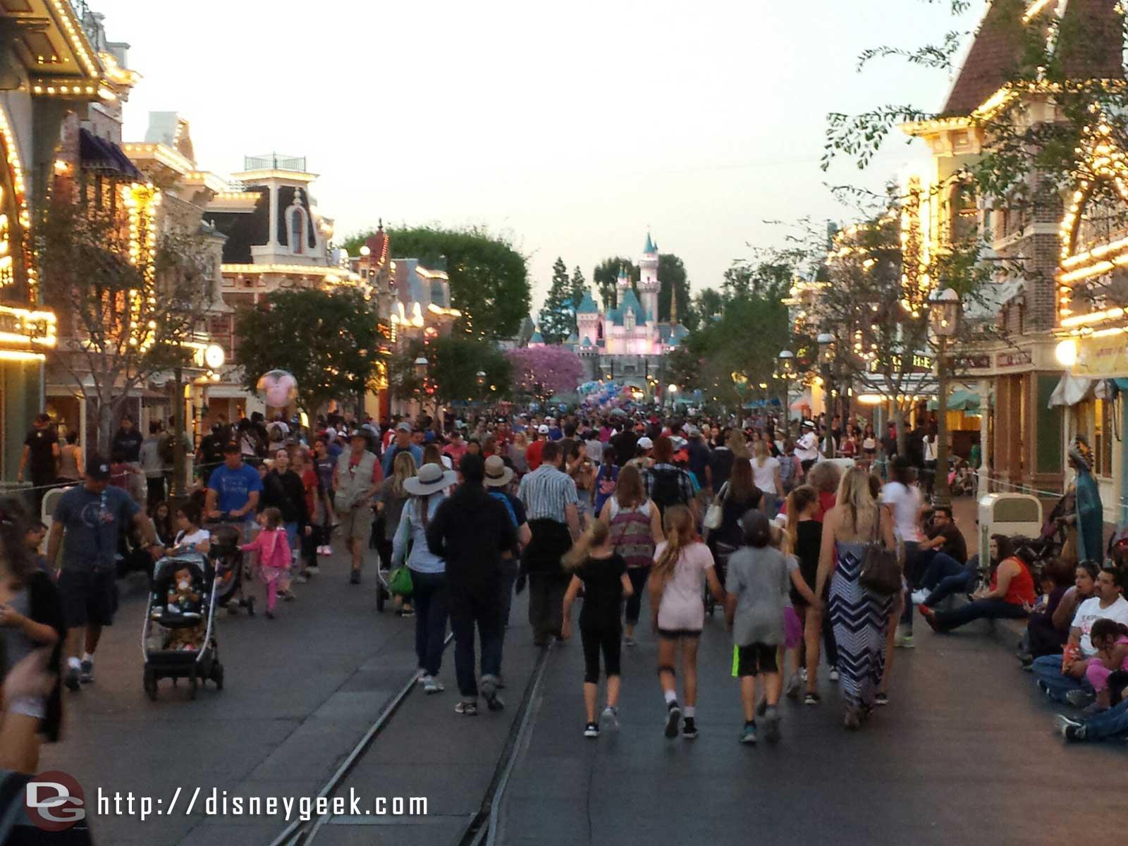 Main Street USA #Disneyland around 6pm