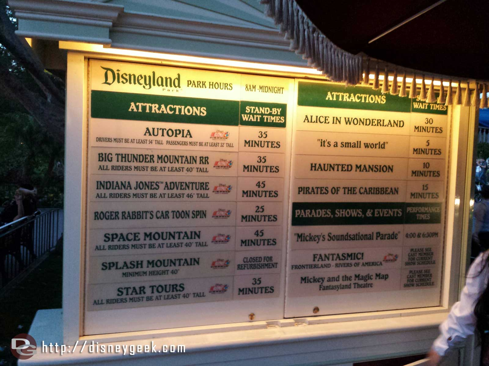 #Disneyland waits as of 6:05pm