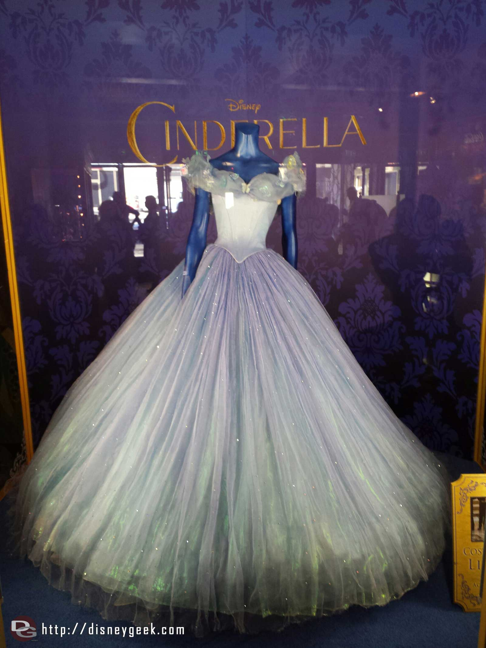 Cinderella's dress from the film at the El Capitan