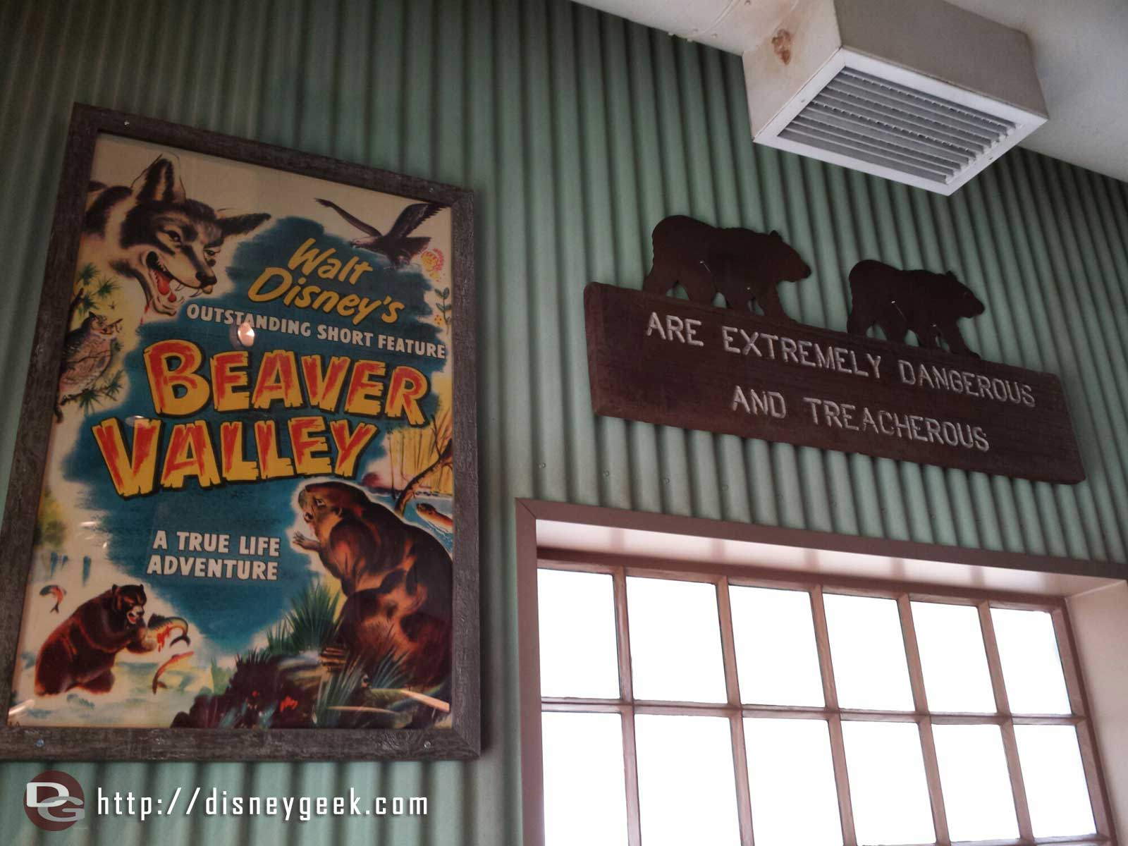 A true life adventure movie poster inside Smokejumpers Grill
