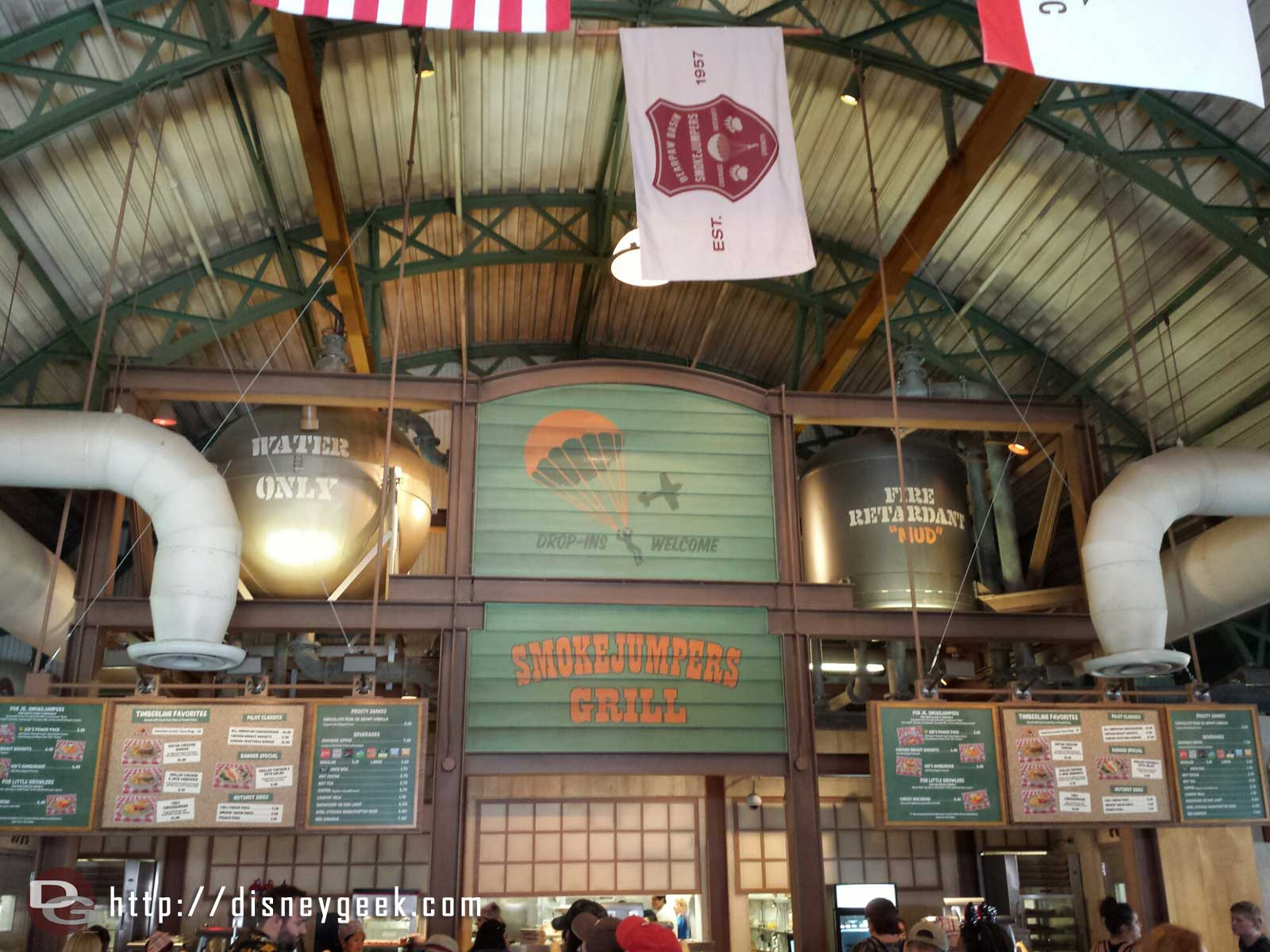 The inside of the Smokejumpers Grill at Disney California Adventure