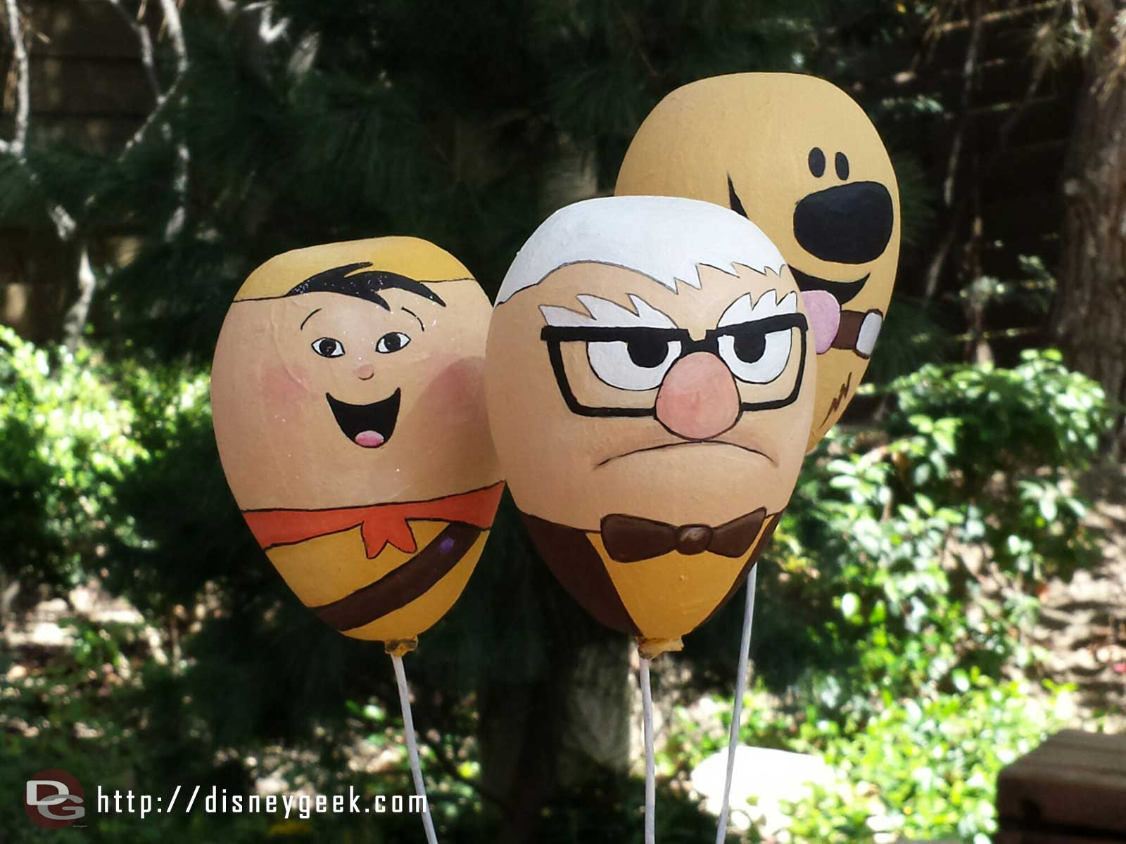 Egg painting is part of the springtime roundup again. Here is the Up gang #Disneyland