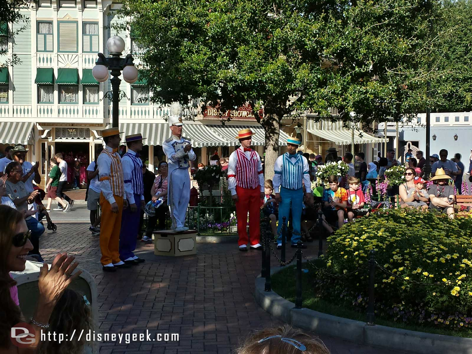 The Dapper Dans of #Disneyland @ the nightly Flag Retreat Ceremony