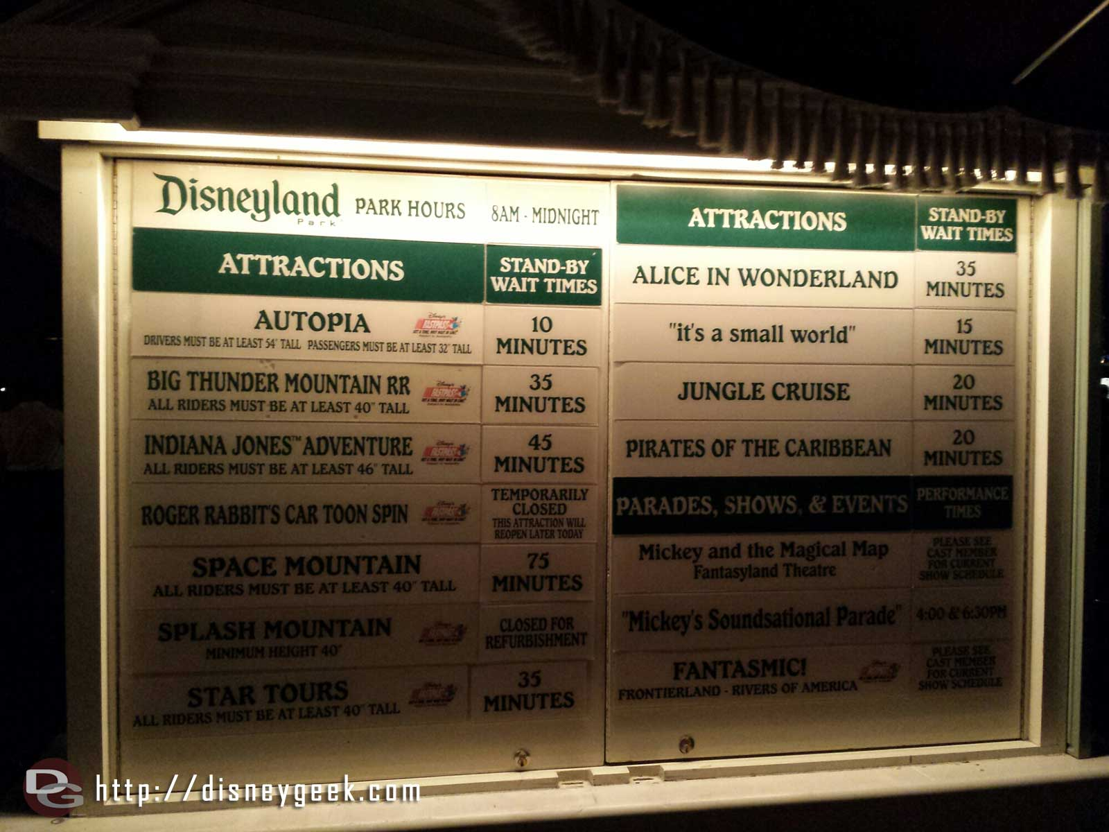 #Disneyland waits as of 7:42pm