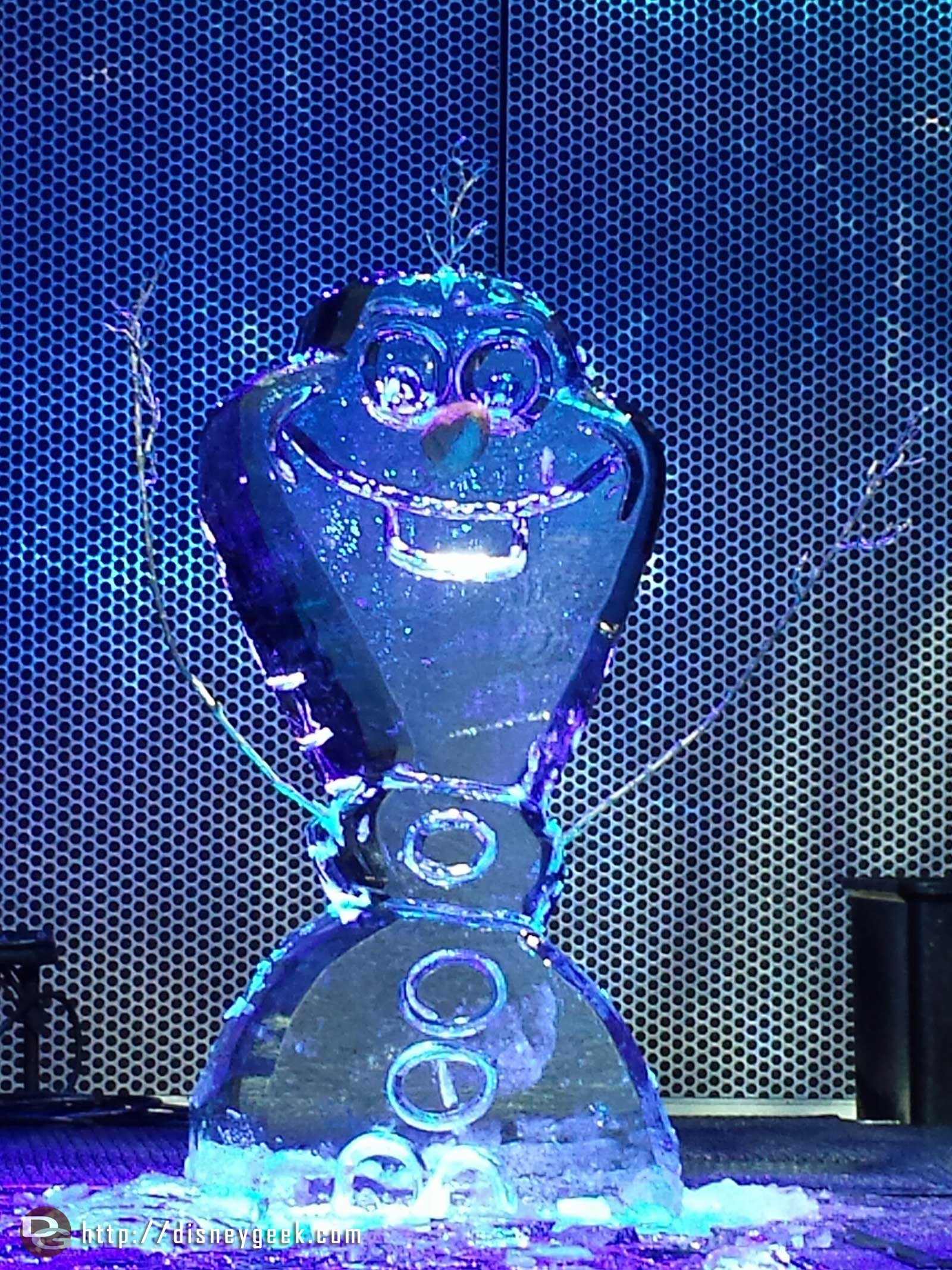 Olaf ice carving at #FreezeTheNight #FrozenFun