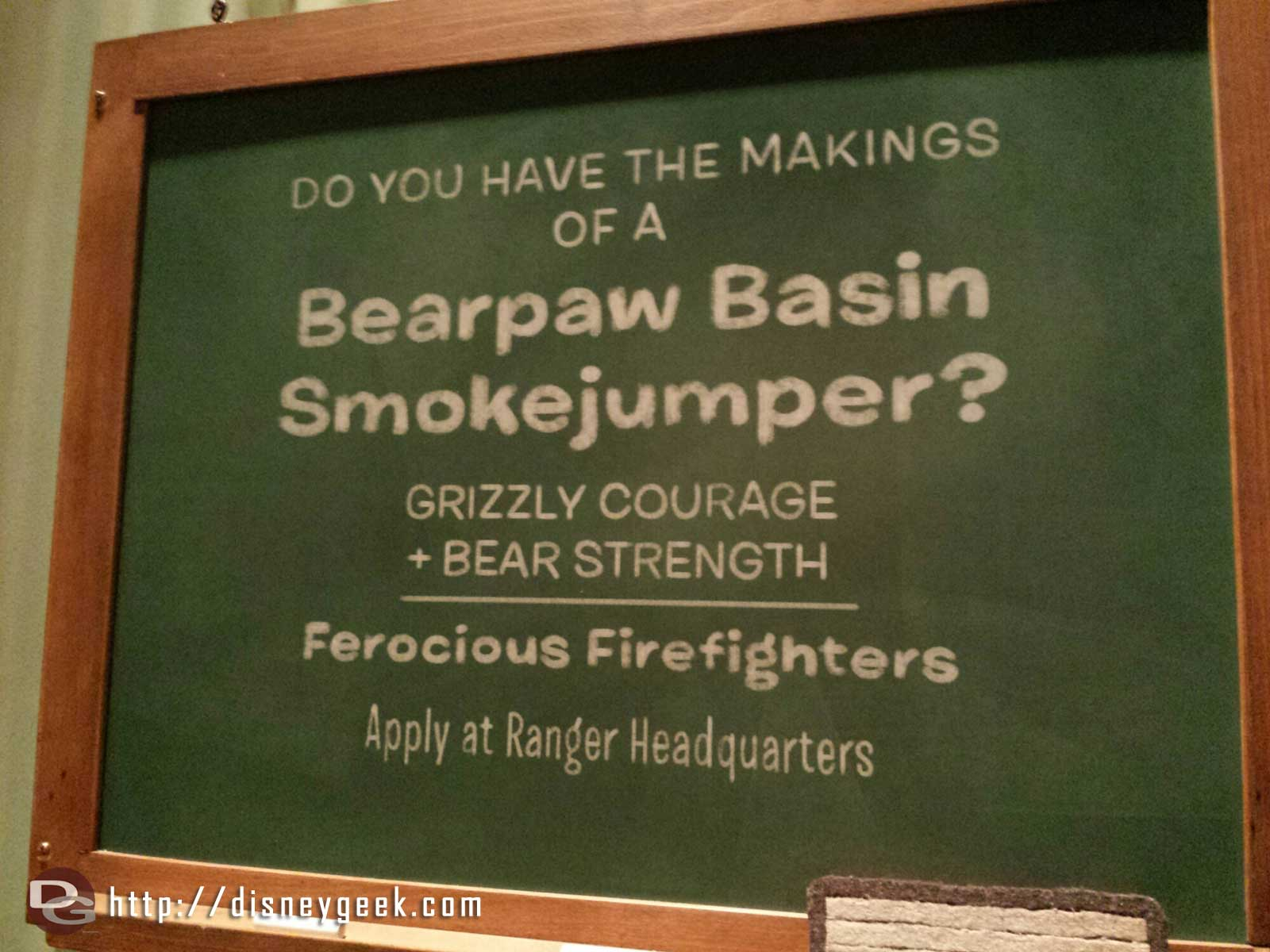 Bearpaw Basin Smokejumper ad inside the new Smokejumpers Grill