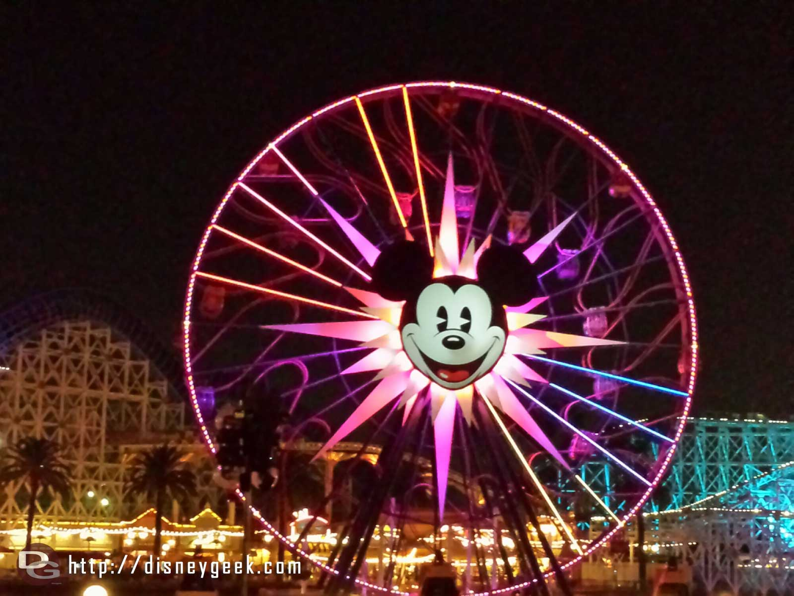 Mickey's Fun Wheel as I wait for World of Color