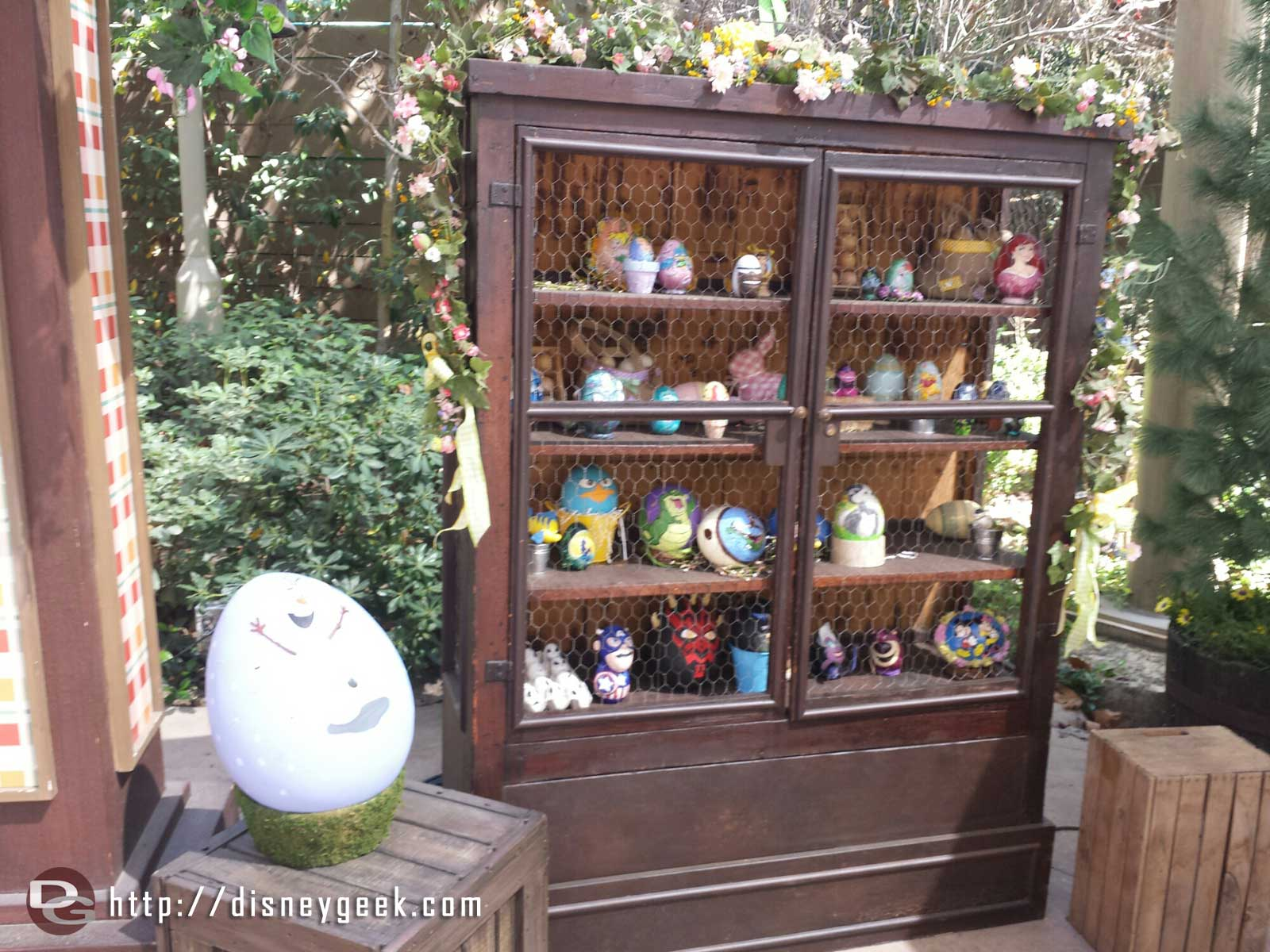 Checking in on the egg artwork at the Springtime Roundup in the Big Thunder Ranch Jamboree #Disneyland