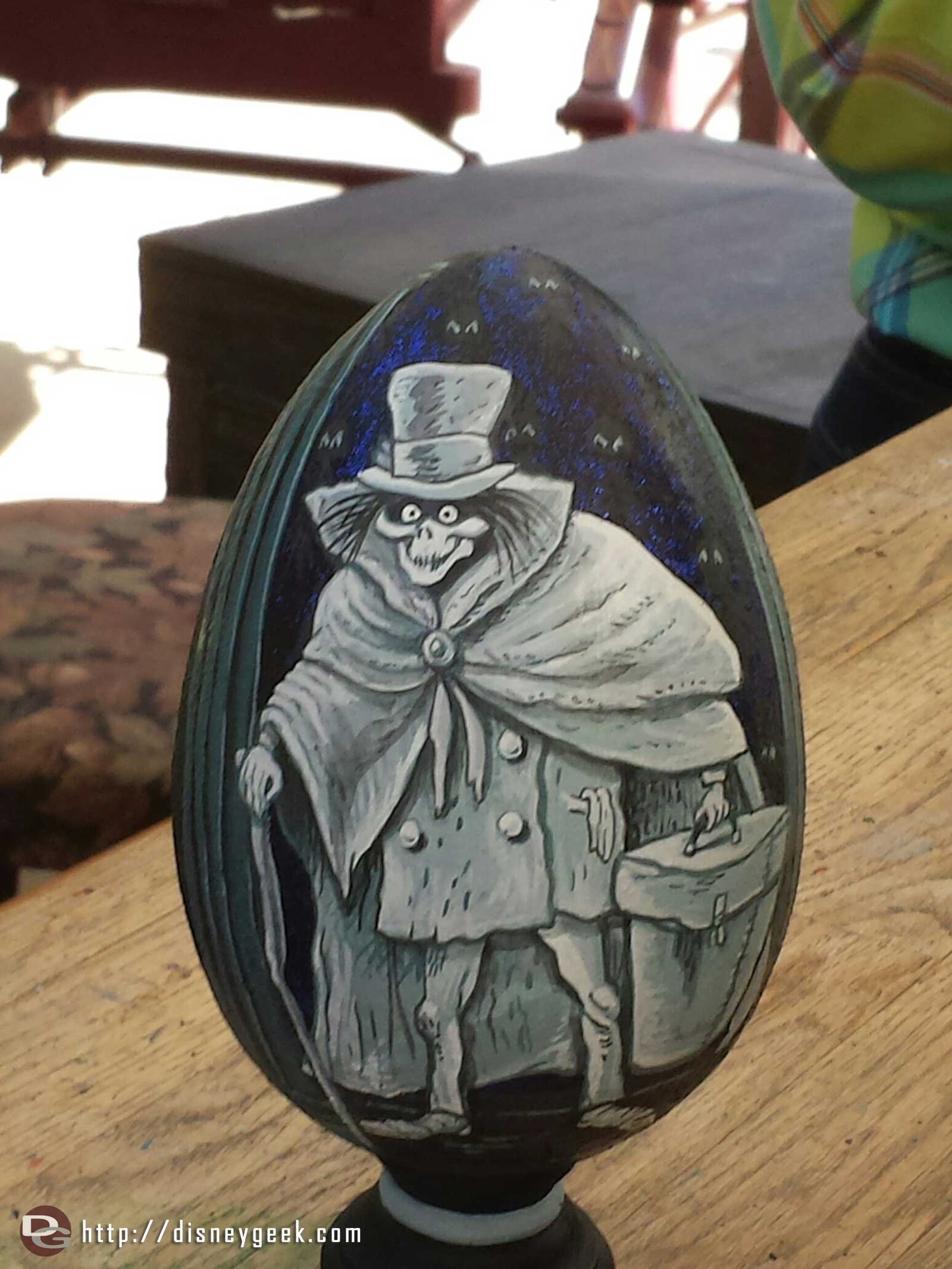 The hatbox ghost on an egg at the Springtime Roundup #Disneyland
