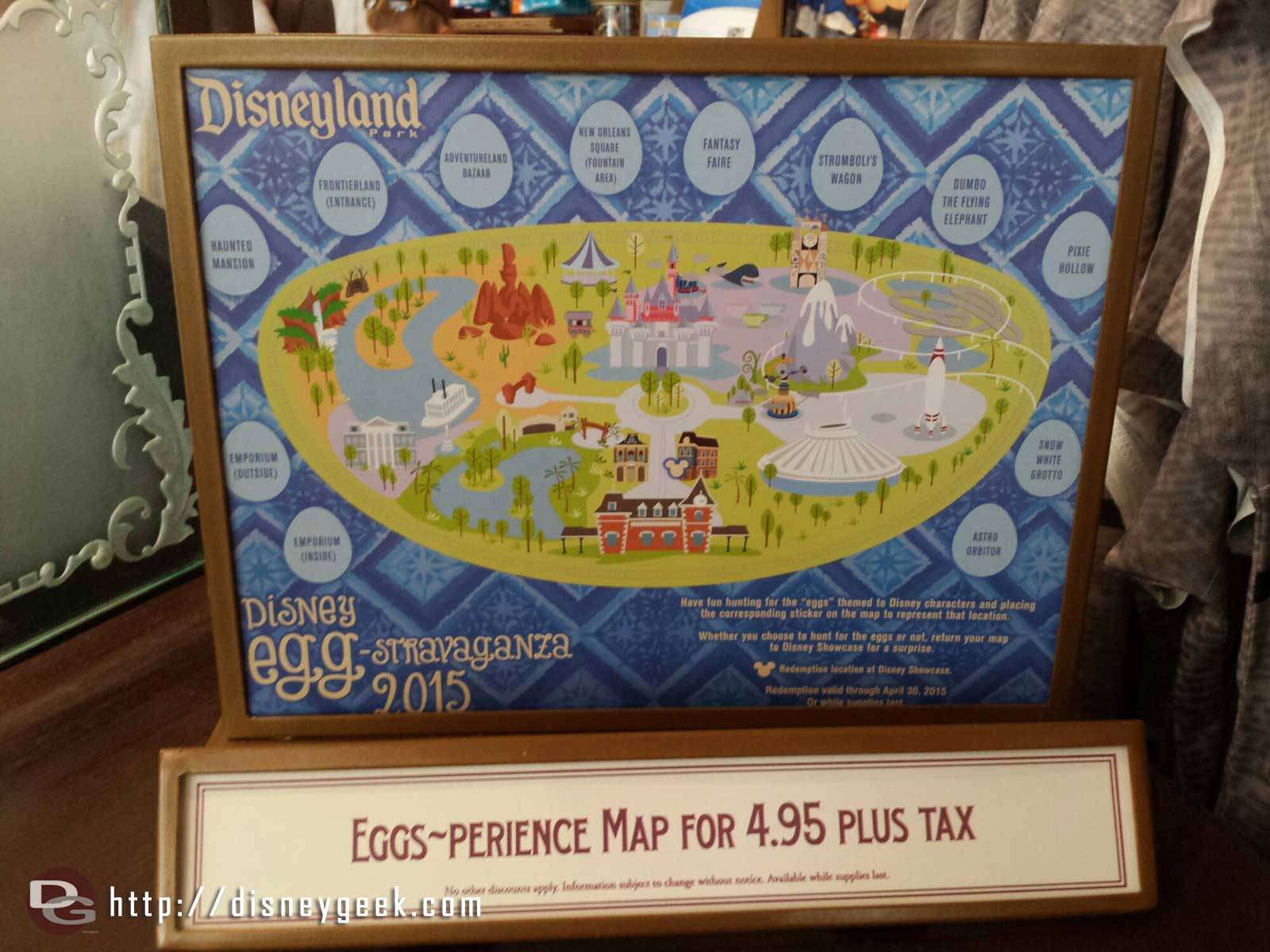 The 2015 egg-travaganza started today in both parks at #Disneyland Resort here is the #Disneyland map