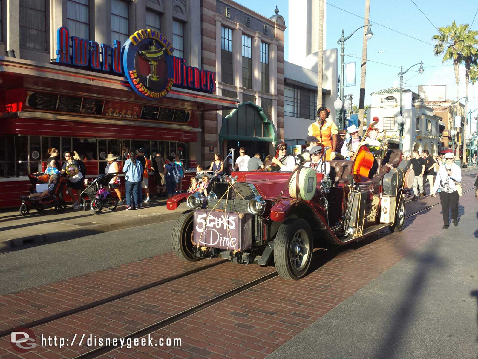 5 & Dime passing by on Hollywood Blvd in Disney California Adventure
