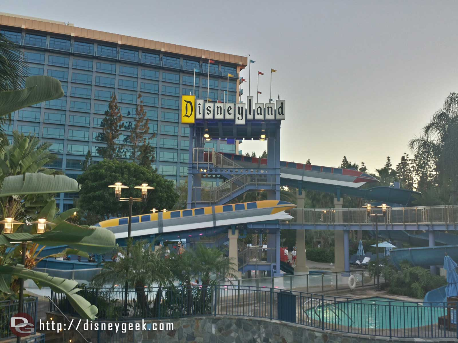 The Monorail slide at the #Disneyland Hotel