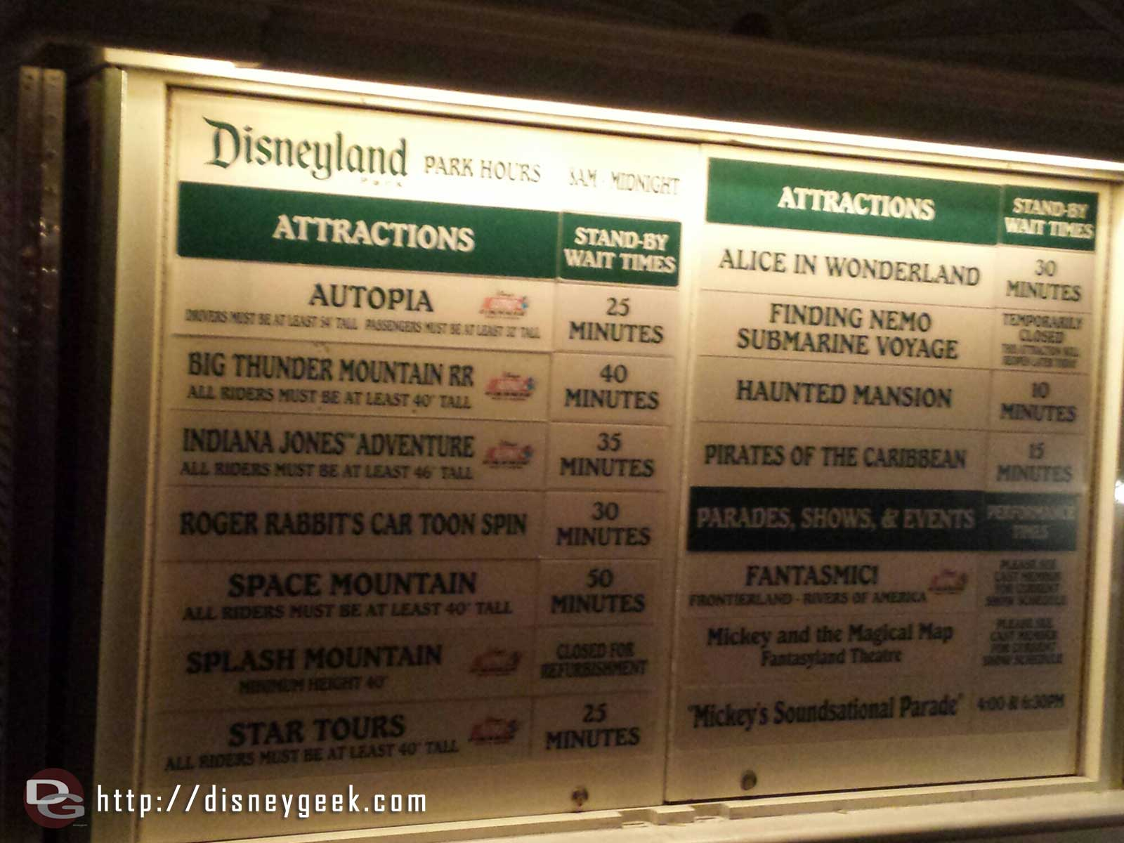 #Disneyland waits as of 8:22pm