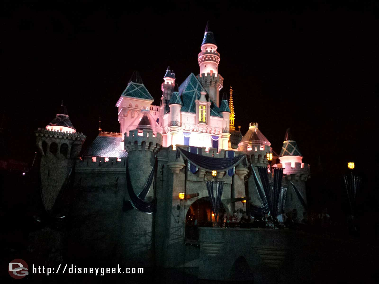 Sleeping Beauty Castle this evening  #Disneyland60