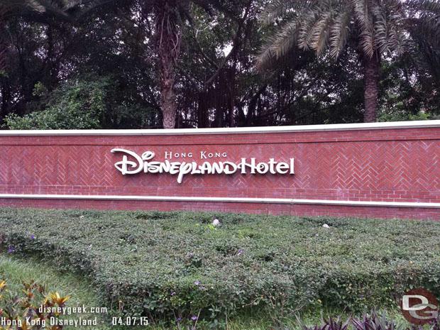 Hong Kong Disneyland Hotel Sign