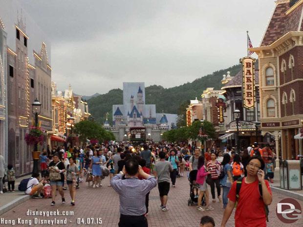 Hong Kong Disneyland - Sleeping Beauty Castle renovations underway.