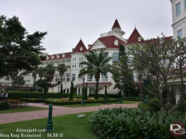 Hong Kong Disneyland Hotel - from the water side