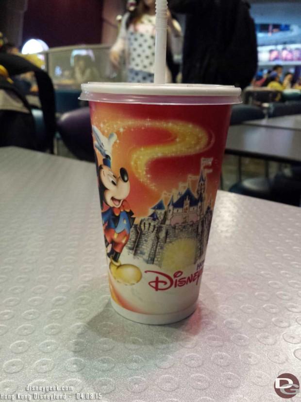 Hong Kong Disneyland - softdrink cup