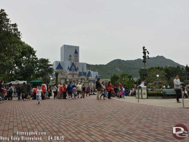 Hong Kong Disneyland - Main Street USA - Waiting for Flights of Fantasy Parade