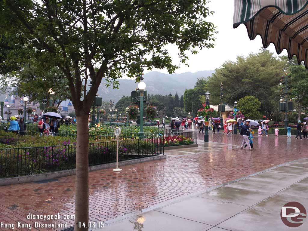 Hong Kong Disneyland - Main Street USA in the rain