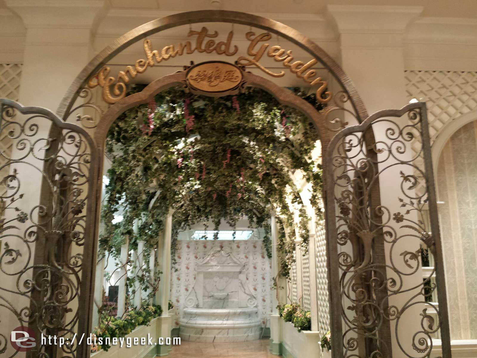 Enchanted Garden restaurant entrance #HongKongDisneyland Hotel #hkdl