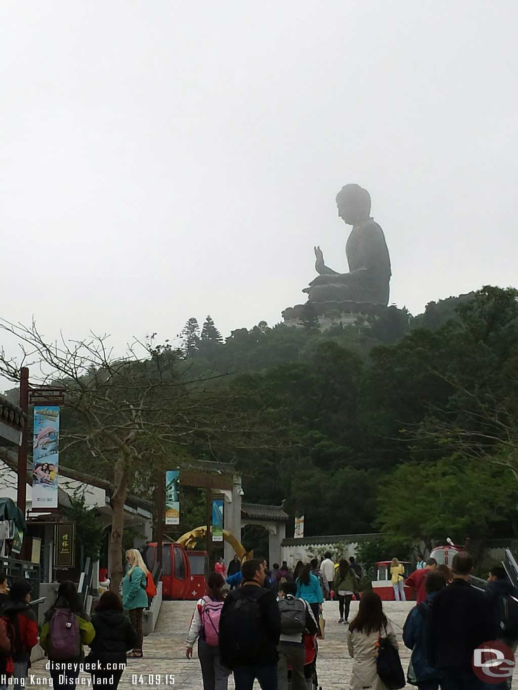 At Ngong Ping this morning to see the big buddha #HongKong