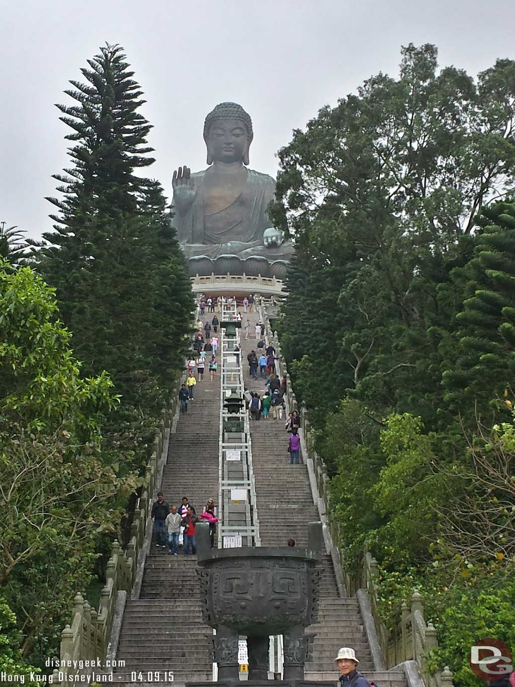 Ready to hike the steps at the big buddha #HongKong
