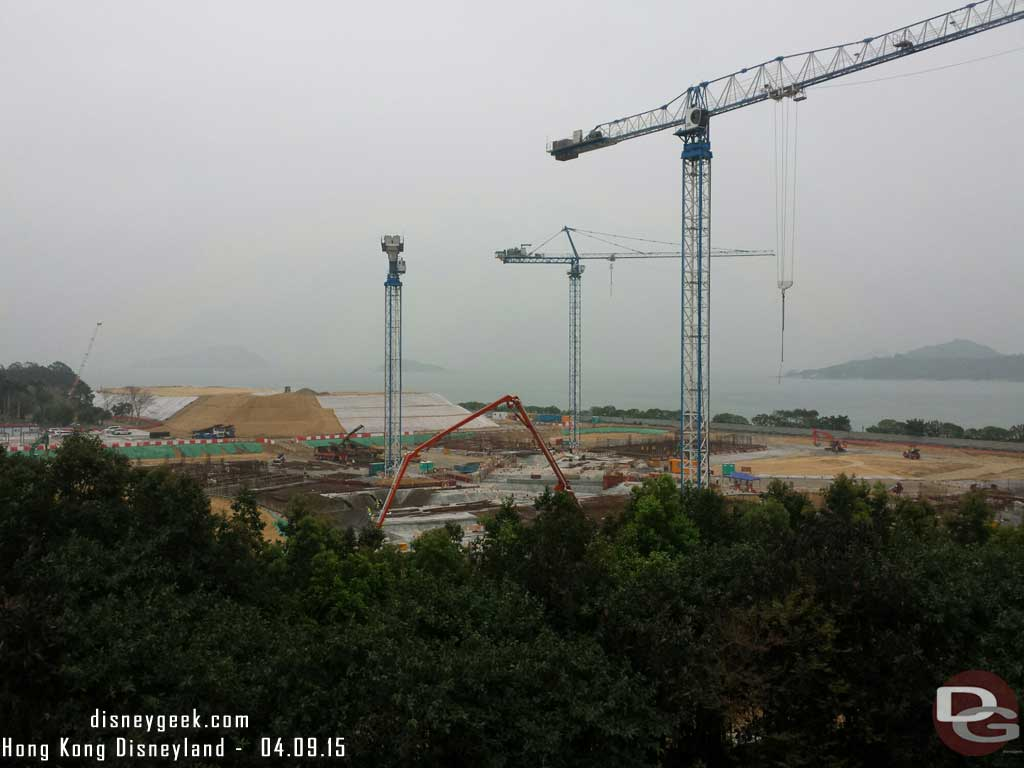 A look at the construction site for Disney Explorer Lodge opening in 2017 #HongKongDisneyland