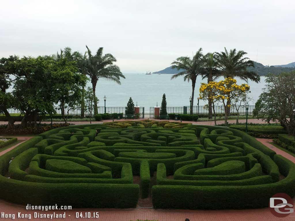#HongKongDisneyland Hotel garden maze