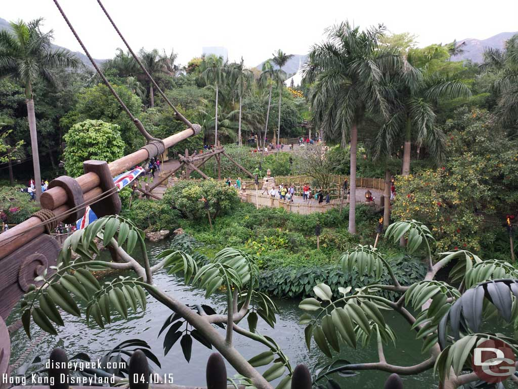 The view from Tarzan's treehouse #HongKongDisneyland