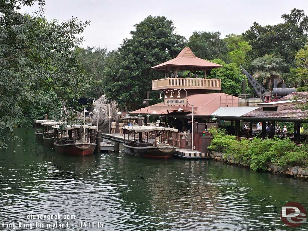 Jungle River Cruise from the treehouse #HongKongDisneyland