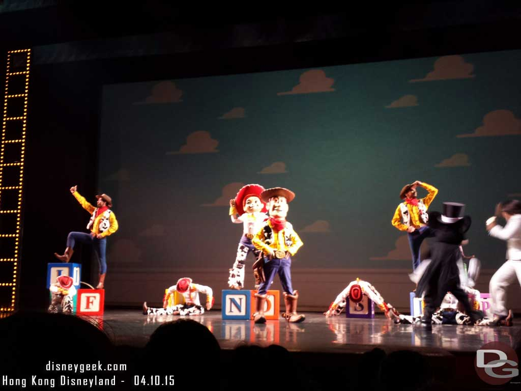Toy Story number during the Golden Mickeys #HongKongDisneyland