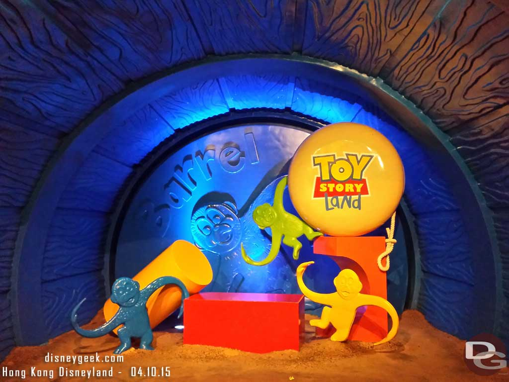 Barrel of Monkeys in Toy Story Land #HongKongDisneyland