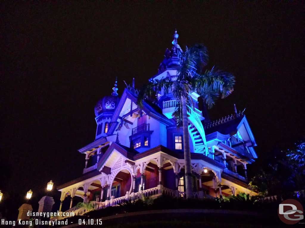 Mystic Manor this evening #HongKongDisneyland