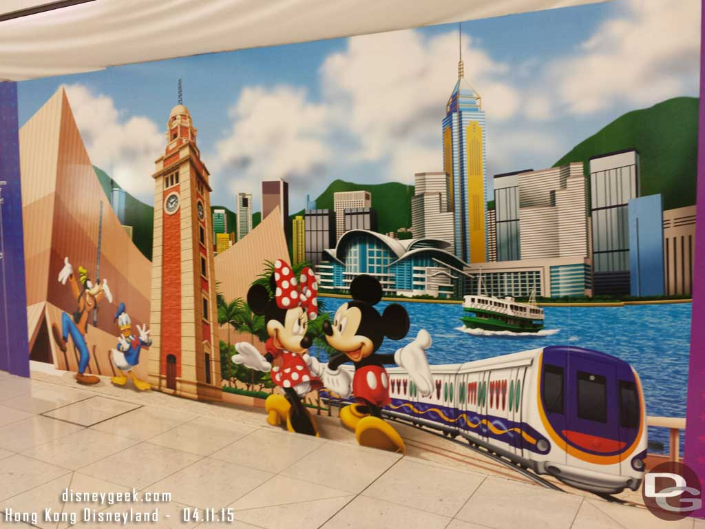 Too bad this design is not on a shirt this is a construction wall #HKairport #HongKongDisneyland