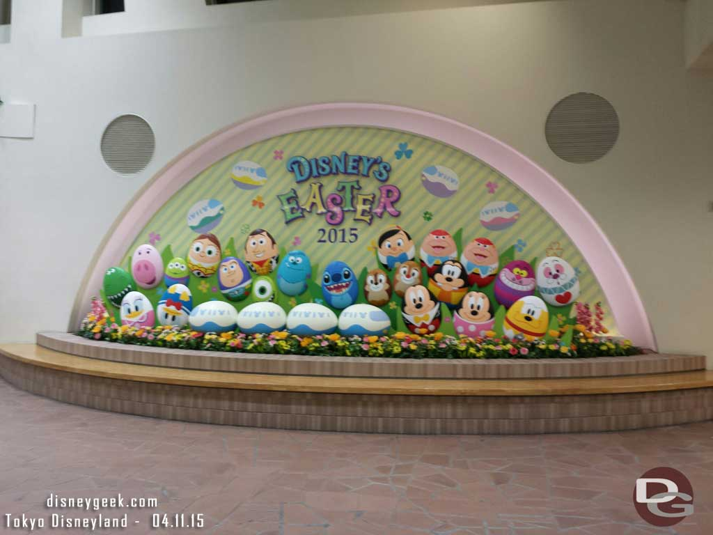 Happy Easter 2015 display/photo op at the Resort Gateway Station #TokyoDisneyResort #tdr