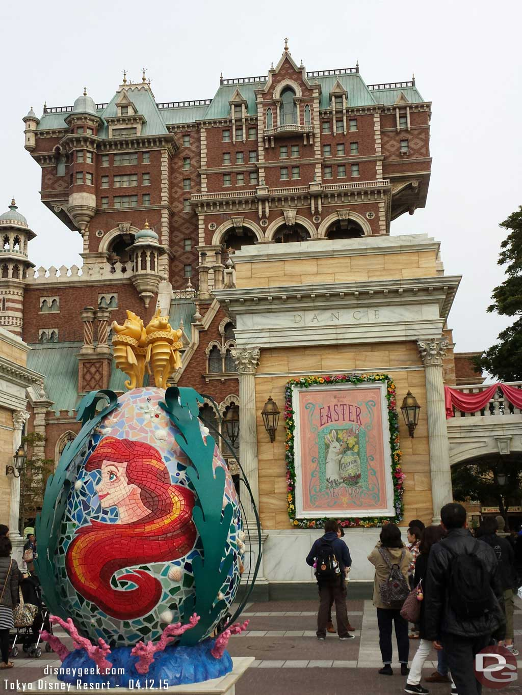 The Little Mermaid Easter Egg in the American Waterfront at #TokyoDisneySea #TDR