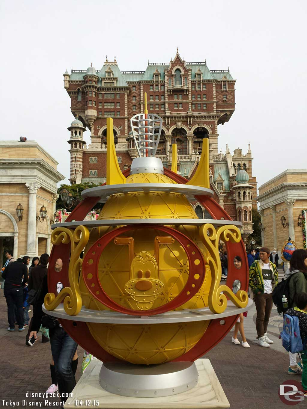 Pluto Easter Egg in the American Waterfront at #TokyoDisneySea #TDR