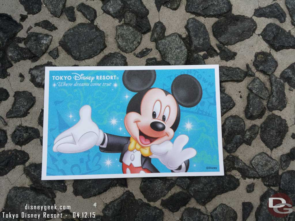 My #TokyoDisneySea ticket for today #TDR