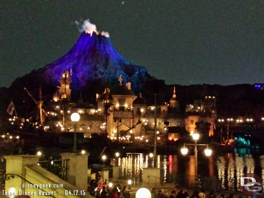 My view as I waited for Fantasmic! #TokyoDisneySea
