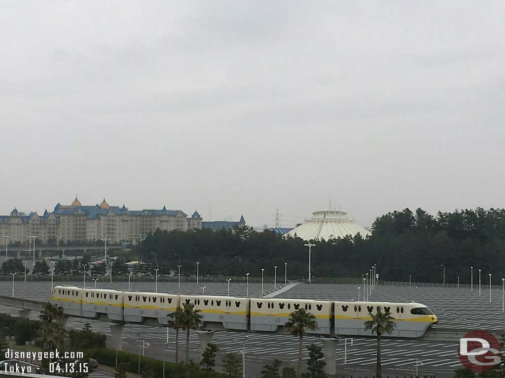 This morning the rain is threatening.  Forecast says 100% chance of rain today.  Off to #TokyoDisneySea for the day.