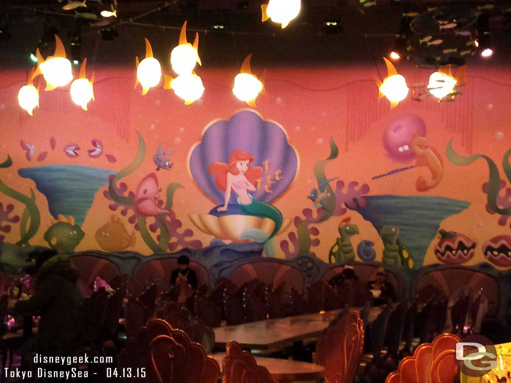 Sebastian's Calypso Kitchen seating area #TokyoDisneySea