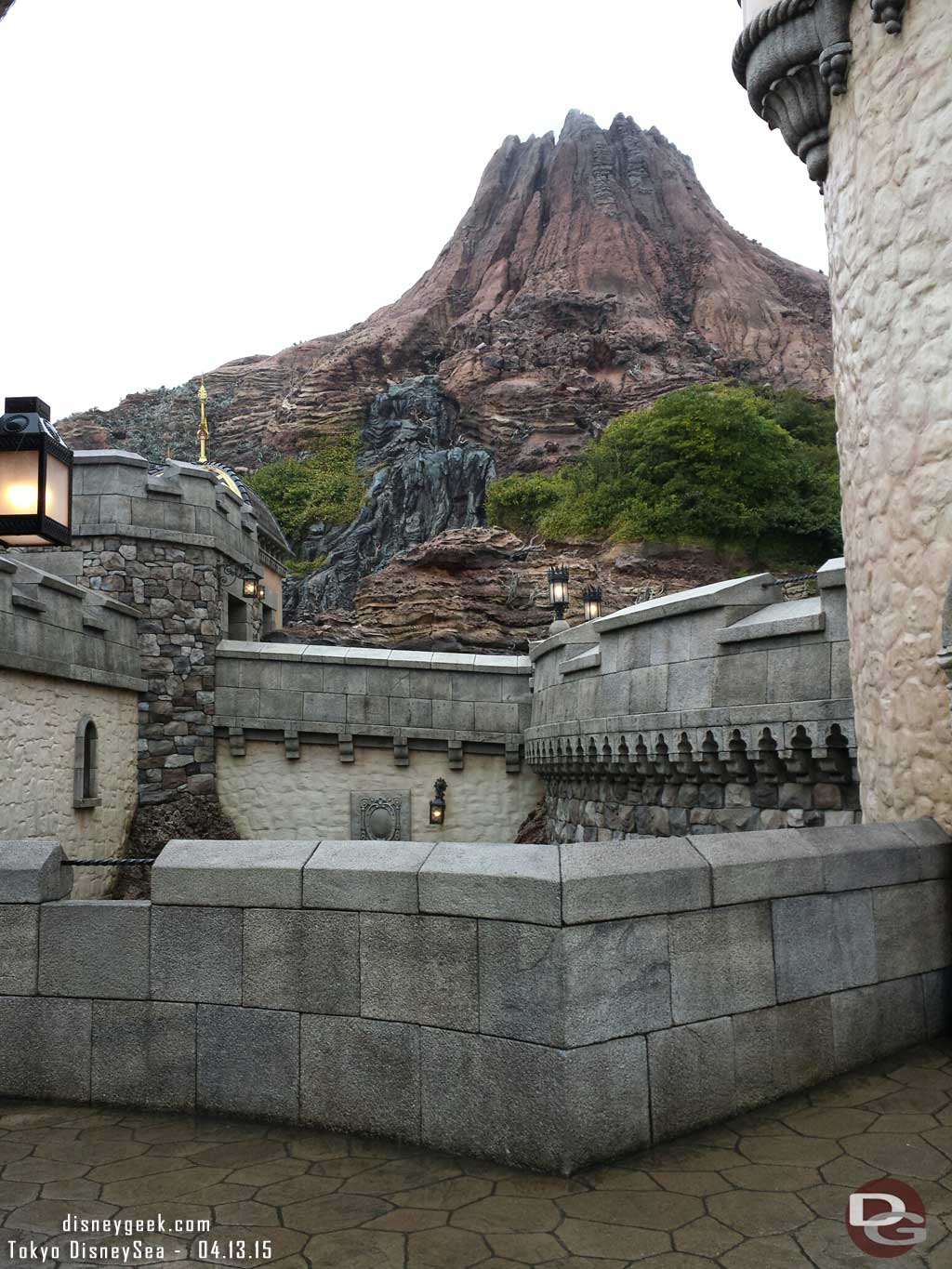 Mount Prometheus from the Fortress #TokyoDisneySea