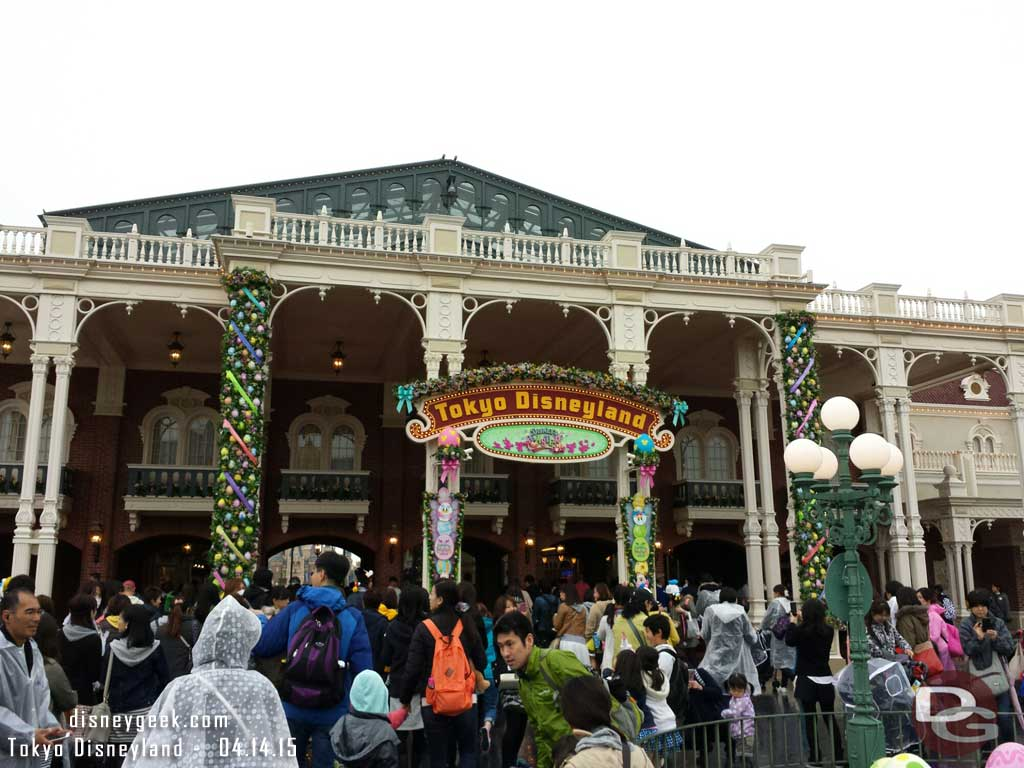 Heading into World Bazaar with thousands of other guests #TokyoDisneyland