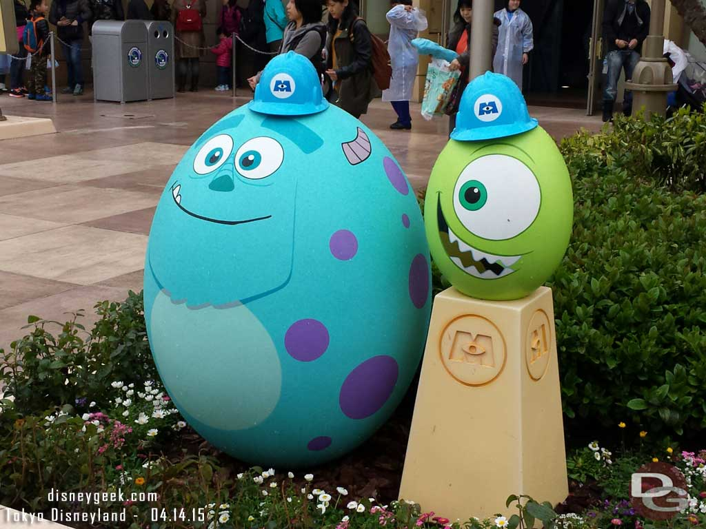 Mike & Sulley eggs outside Monsters Inc #TokyoDisneyland