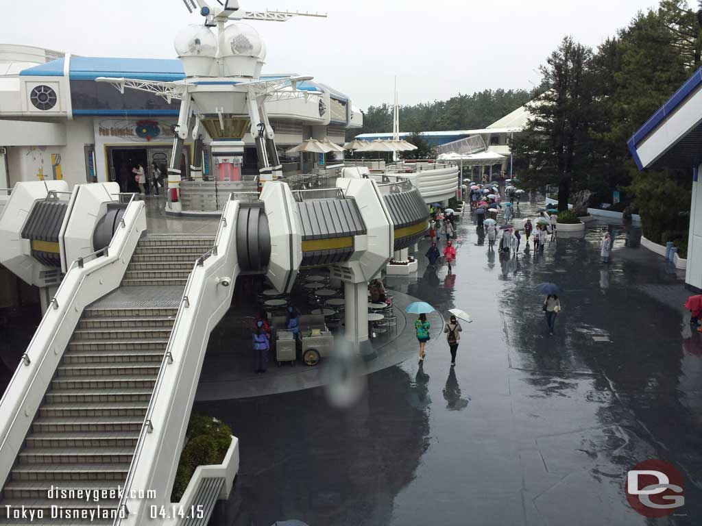 Tomorrowland from the Star Tours exit #TokyoDisneyland