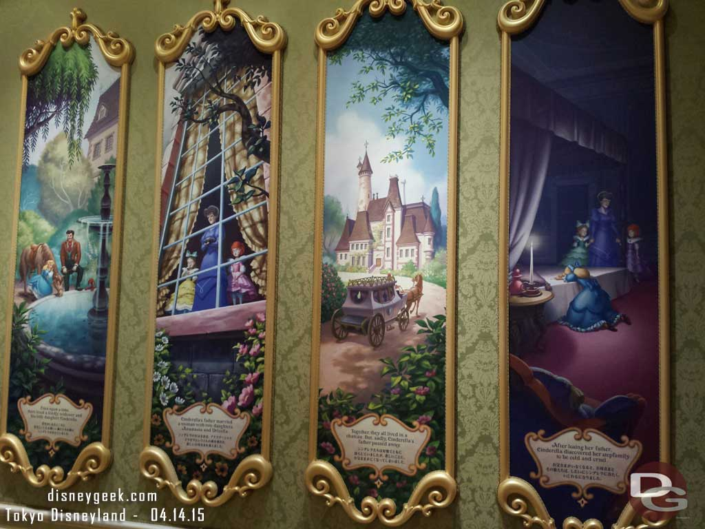 Murals inside Cinderella's Fairy Tale Hall #TokyoDisneyland