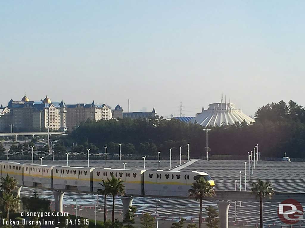 Awoke to something different today.. blue skies at #TokyoDisney . Forecast is wind & cool with slight chance of rain